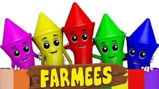 Crayons Colors Song | Learn Colors | Nursery Rhymes | Kids Songs
