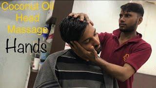 Best Indian Head Massage - Scalp & Upper Body Massage by Mohammad Sami   Coconut Oil Massage   ASMR