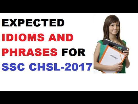 watch Expected idioms and phrases || ssc chsl