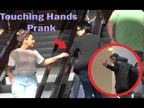 Touching Hands On Escalator Prank 2019 Prank in Georgia Best of Just For Laughs
