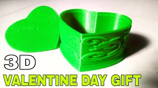 Home made heart box || Best valentine day gift for wife/girlfriend || 3D Printed Valentine box