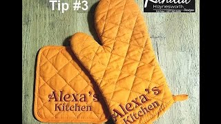Presentation Tip #3: Oven Mitten & Pot Holder Set [SHORT VERSION]