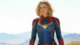 CAPTAIN MARVEL Official First Look (2019) Brie Larson Marvel Movie
