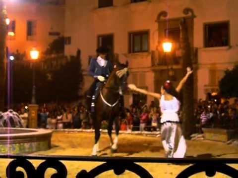 Sevillanas a caballo Zalaura Pedro Morillo Sevillano Manuel Morillo Exhibición Vejer 2011 07 29