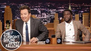 Kevin Hart FaceTimes Dwayne Johnson While Co-Hosting The Tonight Show