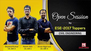 Open Session by ESE 2017 Toppers, Civil Engineering