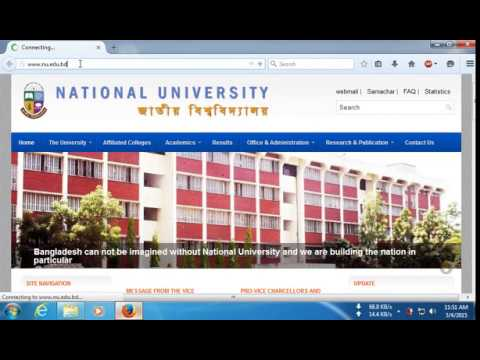 National University (Degree Honours Masters Professional) Result in Bangladesh