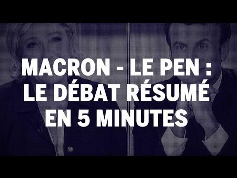 Présidentielle 2017 : le débat entre Emmanuel Macron et Marine Le Pen résumé en 5 minutes