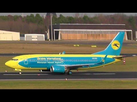 Rare & beautiful! Ukraine International Airlines AUI424 Boeing 737-36Q UR-GBD takeoff Berlin Tegel