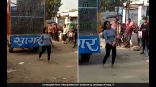 Drunk Girl Dance on Road   Dance Front of her Boyfriends House 2018