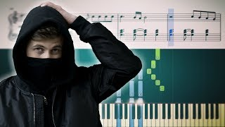 Alan Walker - Faded - Piano Tutorial + Sheets