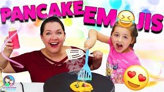 Pancake Art Challenge💩Ava isst Ka**e 😱  EMOJI Pancakes selber machen - Geschichten und Spielzeug