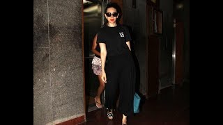 Karisma Kapoor with her daughter post salon session in Bandra