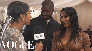 Kim Kardashian West & Kanye West on Her Ocean-Soaked Met Look | Met Gala 2019 With Liza Koshy