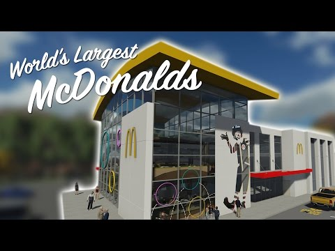 WORLDS LARGEST McDONALDS Feat. Pizza