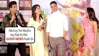 Karan Johar Makes Fun Of Akshay Kumar In Public @ Good Newwz Trailer Launch
