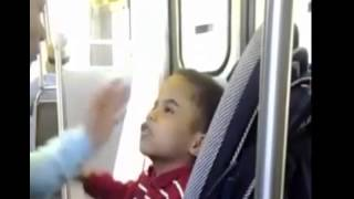 Badazz Kid Of The Week: Little Boy Disrespects And Attacks His Mom On The Train!