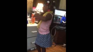 Funny dancing grand daughter ha ha