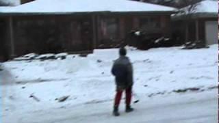 camera guy hit by hockey puck