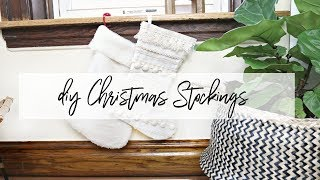 DIY Christmas Stockings- Anthropologie Inspired