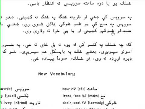 Learn Pashto Unit 10B