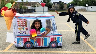 Police Buy Ice Cream from the Ice Cream Truck!! Kids Pretend Play compilation