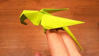 How To Make A Paper Parrot - EASY Origami