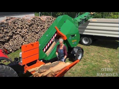 10 Extreme Fast Automatic Firewood Processing Machine Modern Wood Cutting Machine Splitting Firewood