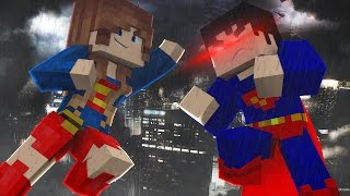 Minecraft: SUPERGIRL VS SUPERMAN - Super Heroes PvP ‹ Ine ›