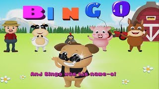 BINGO DOG SONG | Nursery Rhymes & Kids Songs With Lyrics | Great Songs for Children