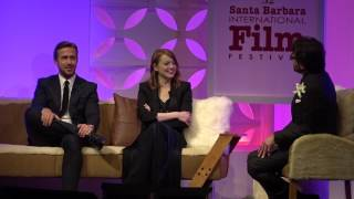SBIFF 2017 - Ryan Gosling & Emma Stone Having Fun On Stage With Roger Durling