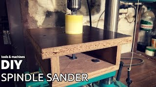 Cheap DIY oscillating spindle sander for drill press