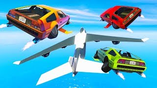HACKING A CARGO PLANE WITH FLYING CARS! (GTA 5 Doomsday Heists DLC)