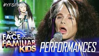Your Face Sounds Familiar Kids: Justin Alva as Steven Tyler - I Don
