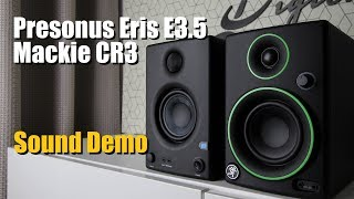 Presonus Eris E3.5 vs Mackie CR3  ||  Sound Demo w/ Bass Test