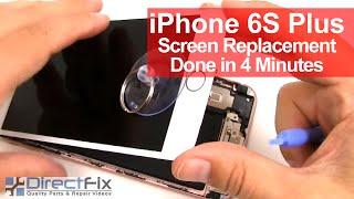 iPhone 6s Plus Broken Screen Replacement in 4 minutes