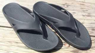 OOFOS OOriginal Black Sandals