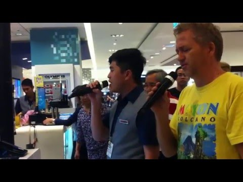 SHOCKING VOICE Filipino Sales Boy Sings with American Missionary