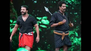 Amma Mazhavillu I Shajipappan and Pulimurugan shares the stage I Mazhavil Manorama
