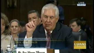 Key Capitol Hill Hearings Tillerson, Corker, on manmade climate change