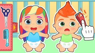 HAIRDRESSING THE BABIES | Gameplay in a beauty salon with Alex and Lily | Cartoons for kids