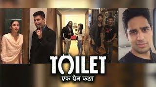 Sidharth Malhotra, Alia Bhatt, Ranveer Singh, Varun Dhawan - Celebs Promote Toilet Ek Prem Katha