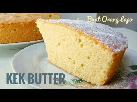 Simple fluffy BUTTER CAKE | KEK MENTEGA yang lembut dan mudah