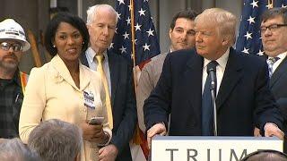 Donald Trump offers woman job at press conference