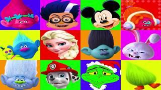 Grinch Movie Game with Paw Patrol Skye, Dr. Suess Grinch, Trolls Movie | Ellie Sparkles