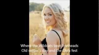 Carrie Underwood - I Ain't in Checotah with Lyrics