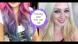 HOW TO- Remove Fashion Colour from your hair! Manic Panic, Directions etc   Jade Madden