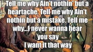 Tell me why - Backstreetboys - KARAOKE / LYRICS