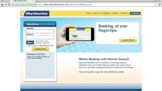 Valley National Bank Online Banking Login Instructions