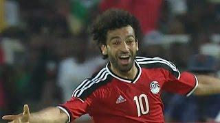 جميع أهداف محمد صلاح مع منتخب مصر - تصفيات امم افريقيا 2017 بالجابون [ 5 أهداف ] جودة عالية